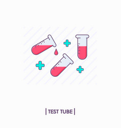 collection of test tubes with red liquid vector image