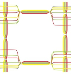 Color cables vector