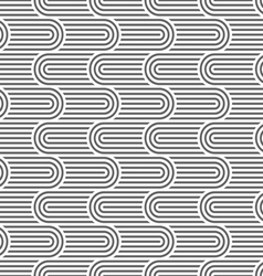 Curved striped geometric seamless pattern vector
