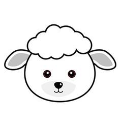 cute sheep cute animal faces vector image