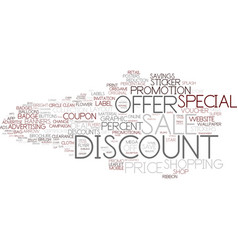 Discount word cloud concept vector