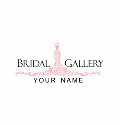Dress boutique bridal logo vector