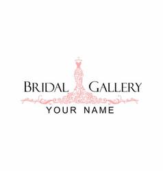 Dress boutique bridal logo vector