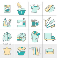 dry cleaning laundry and cloth washing service vector image