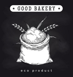 eco mill product logo on chalkboard vector image