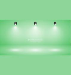 empty pastel green studio abstract background vector image