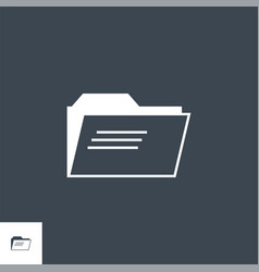 folder related glyph icon vector image