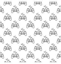 gamepad pattern gaming controller seamless vector image