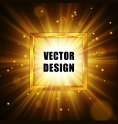 Gold star with sparkles abstract explosion vector