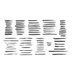 grunge brushes collection vector image