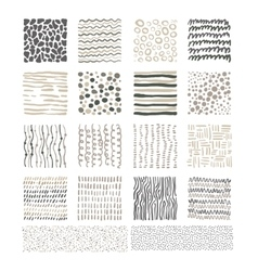 Handdrawn Doodle Textures Black and White vector