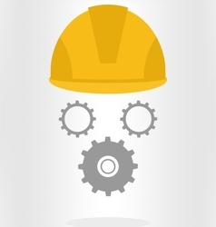 Helmet with gears vector image