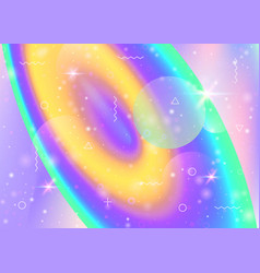 holographic background with vibrant rainbow vector image