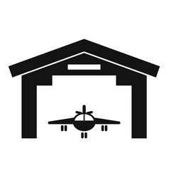 Industry military hangar icon simple style vector