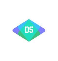initial letter logo ds template design vector image