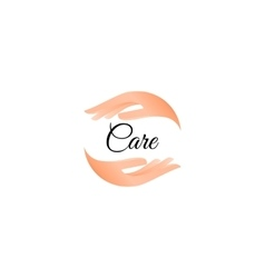 Isolated hand care logo Human palms logotype vector