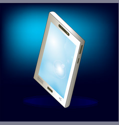 isometric abstract smartphone on bright background vector image