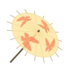 Japanese umbrella icon cartoon style vector