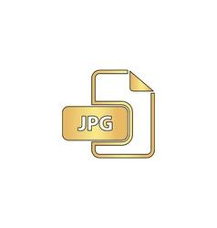 JPG computer symbol vector image