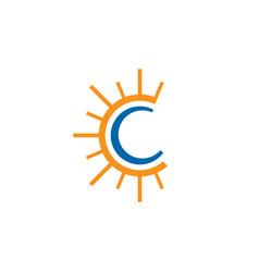 letter c logo design template vector image