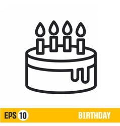 Line icon birthday vector