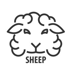 Line icon of sheep vector