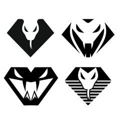 luxury snake logo vector image