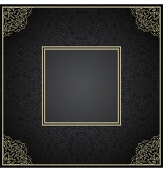 Luxury vintage invitation frame with ornament vector image