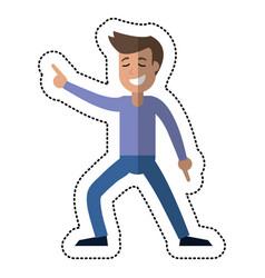 man dancing party celebration vector image