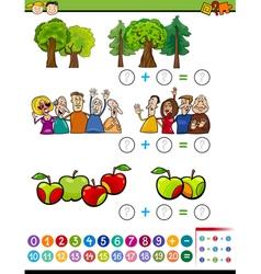 Mathematical algebra task for kids vector