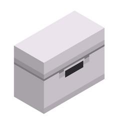 Metal tool box icon isometric style vector