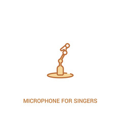 Microphone for singers concept 2 colored icon vector