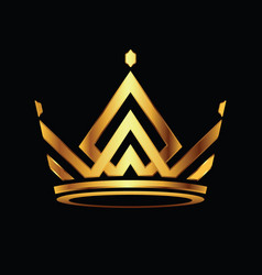 Modern crown logo royal king queen abstract logo vector