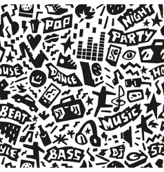 music party - seamless background vector image