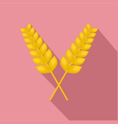 pair of wheat icon flat style vector image