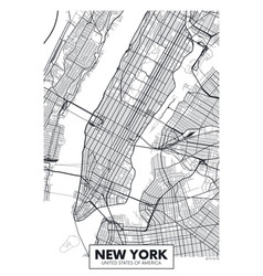 Poster map city new york vector