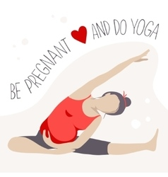 Prenatal Yoga Pregnant woman doing exercise vector