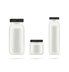 realistic white cosmetic cream container for vector image