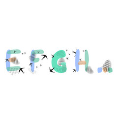 Set hand drawn letters e f g h vector