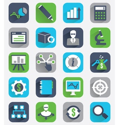 Set of flat analytics and statistics icons vector