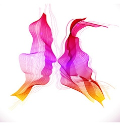Silhouettes of loving couple abstract vector