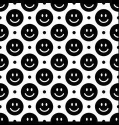 smile icon pattern happy faces on a black vector image