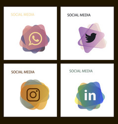 Social media icons facebook icon instagram icon vector