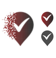 sparkle pixel halftone ok marker icon vector image