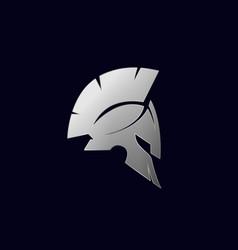 spartan logo sparta logo helmet logo vector image