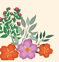 Spring floral decoration image vector