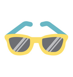 sunglasses flat icon travel and tourism vector image