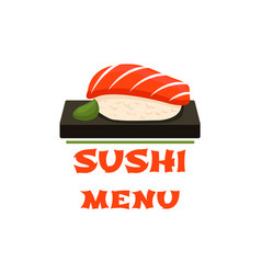 sushi icon for japanese restaurant menu vector image