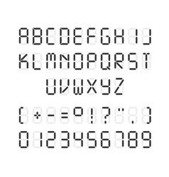 template of black digital font vector image