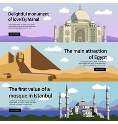 Travel banner set International culture vector image
